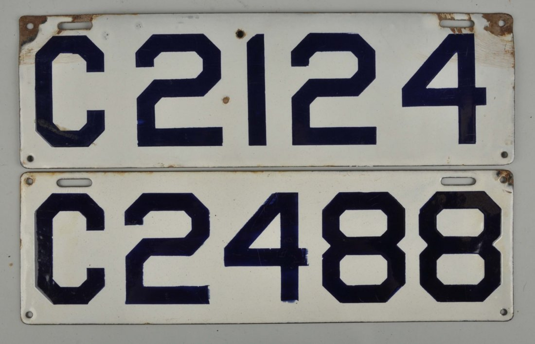 Set Of 1911 Connecticut License Plates.