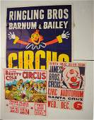 Lot Of 3 Vintage Circus Posters