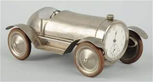 German Pre-War Steel Race Car With Clock.