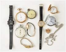 Lot Of Pocket & Wristwatches.