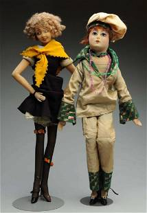 Lot Of 2: Boudoir Dolls.