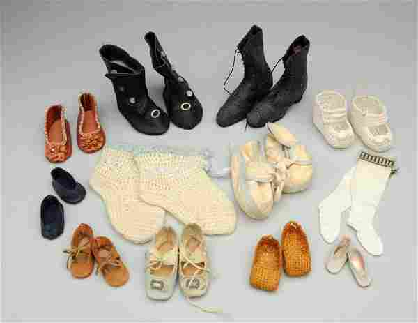 Lot Of Doll Shoes.