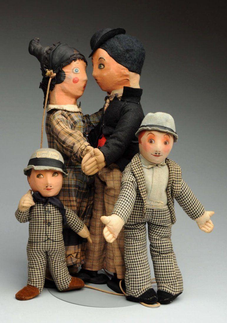 Lot Of 3: Lupino Lane Character Dolls.
