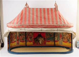 Schoenhut Oval Tent with Sideshows & Tent Box.