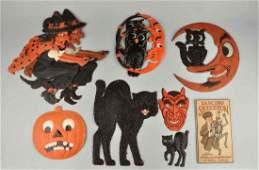 Assorted Paper  Cardboard Halloween Decorations