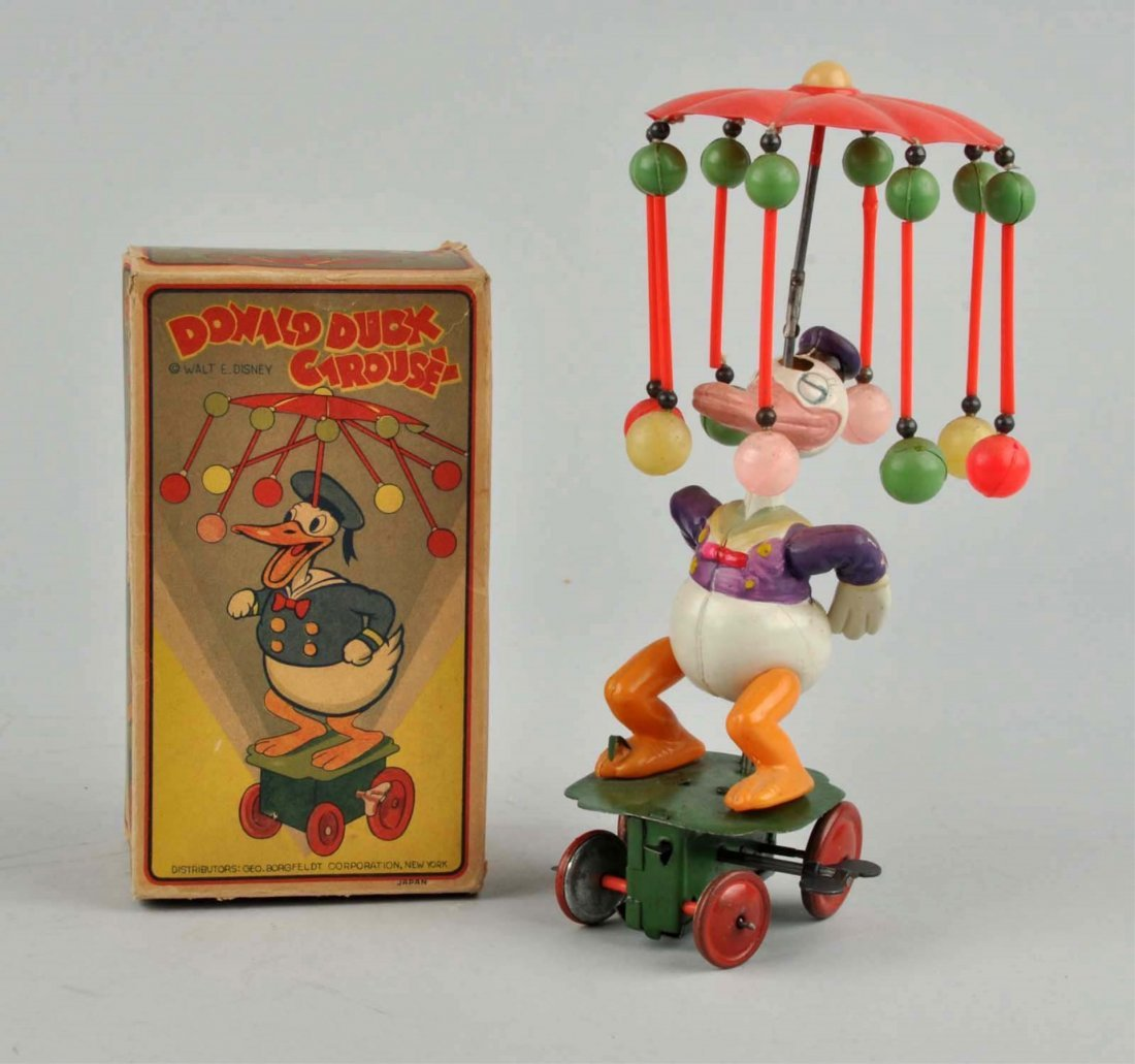 Japanese Walt Disney Donald Duck Carousel Toy.