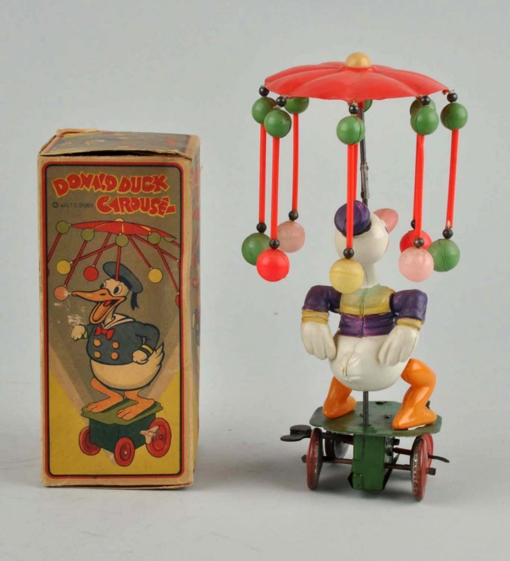 Japanese Walt Disney Donald Duck Carousel Toy. - 2