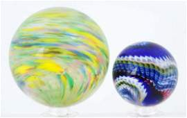 Lot Of 2: Contemporary Marbles.