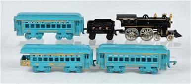 Cast Iron American Made Passenger Train Set.