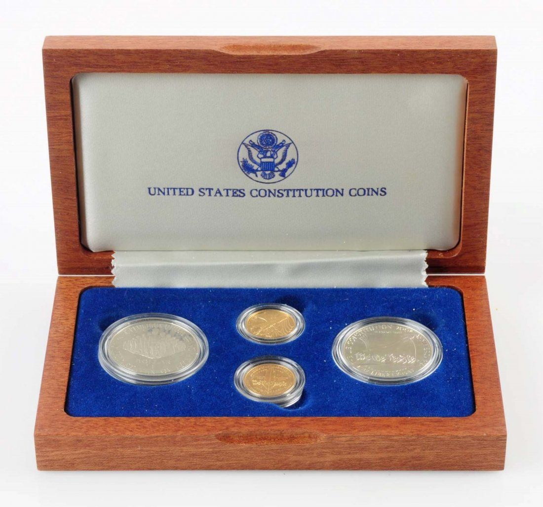 United States Constitution 1987 4 Coin Set.