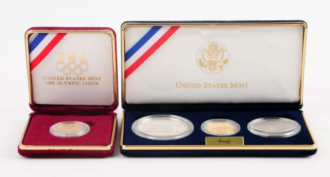 Lot Of 2: Comm. U.S. Cap. Visitor Center Coin Sets