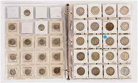 Large Lot of U.S. Coins in Note Book.