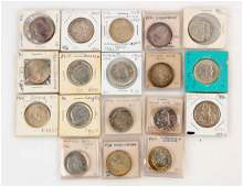Lot Of 18 Silver Commemorative US Coins