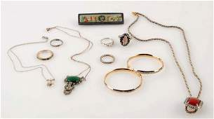 Lot Of 9: Silver & Gold Items.