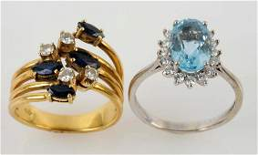 Lot Of 2: Gold Rings.