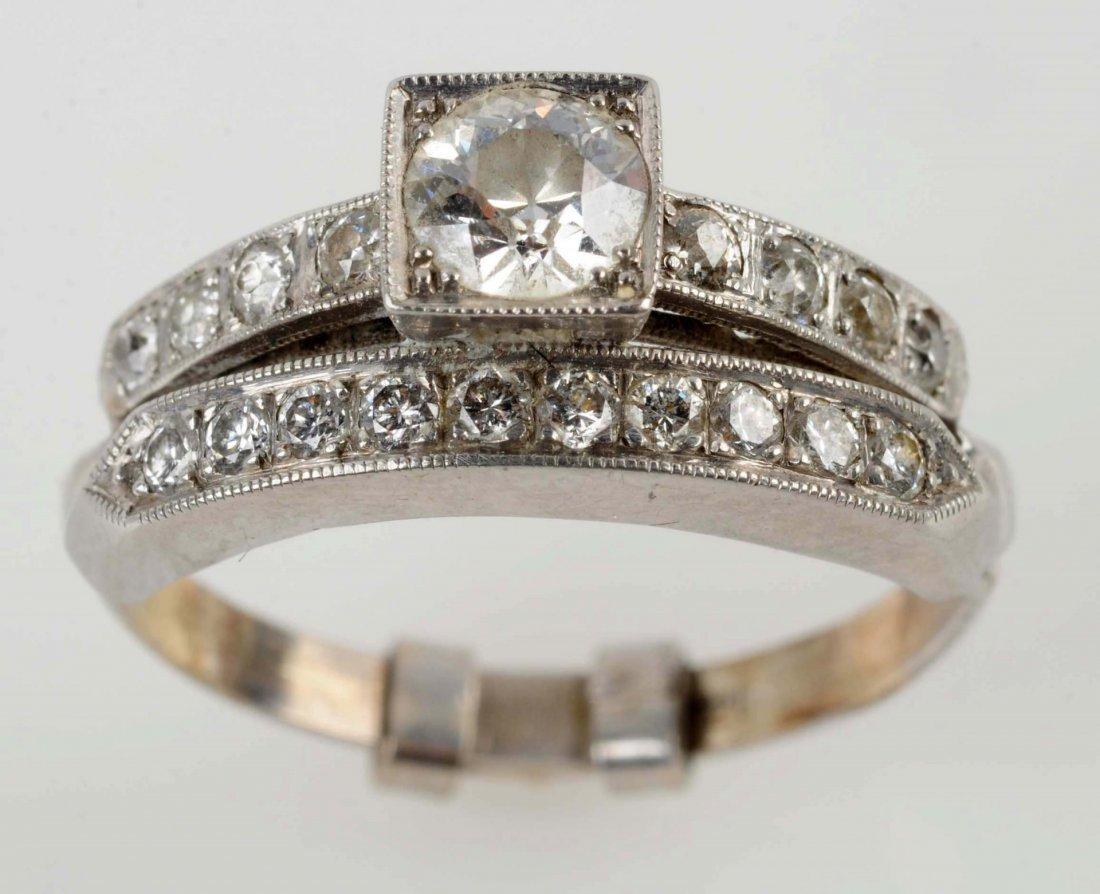 Joined Diamond Wedding Set.