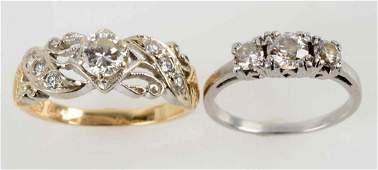 Lot Of 2: Diamond Rings.