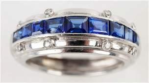 Tiffany & Co. Sapphire Diamond Band.
