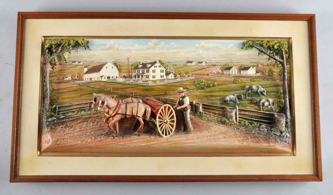 Aaron Zook 3D Carved Painting.