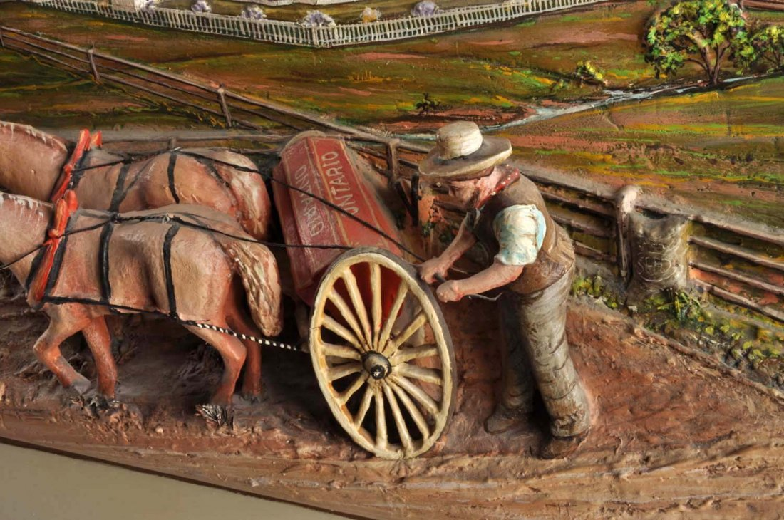 Aaron Zook 3D Carved Painting. - 3