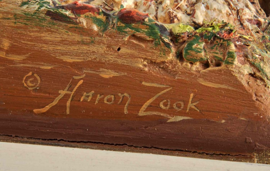 Aaron Zook 3D Carved Painting. - 2