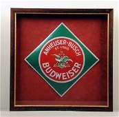 Anheuser-Busch Budweiser Beer Porcelain Sign.