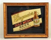 Stegmaier Beer Tin Over Cardboard Sign.