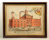 Middletown Brewery Lithograph