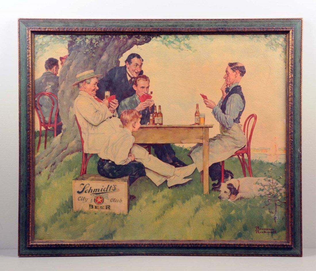 Schmidt's City Club Beer Norman Rockwell Painting.