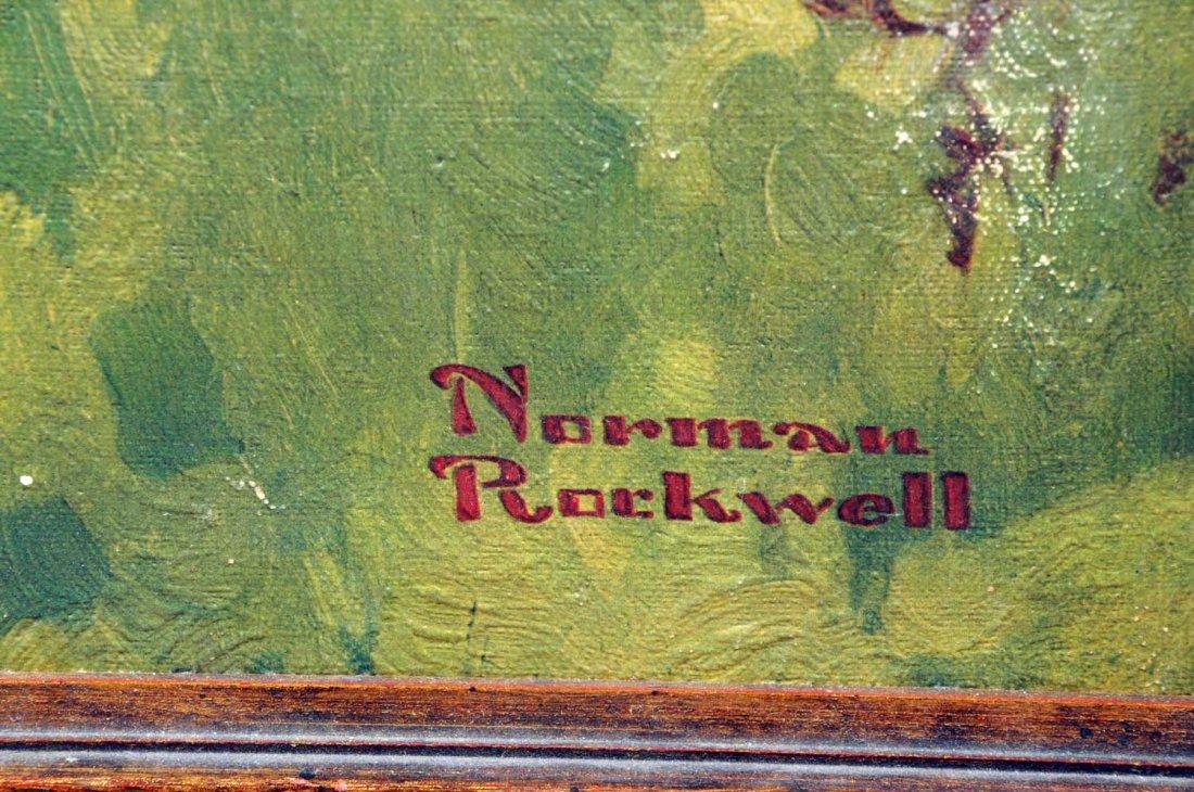 Schmidt's City Club Beer Norman Rockwell Painting. - 2