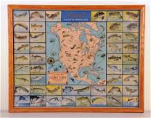 Hamms Beer Game Fish Lithograph Poster