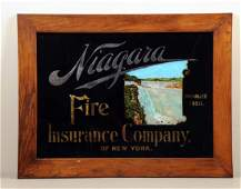 Niagara Fire Insurance Reverse On Glass Sign