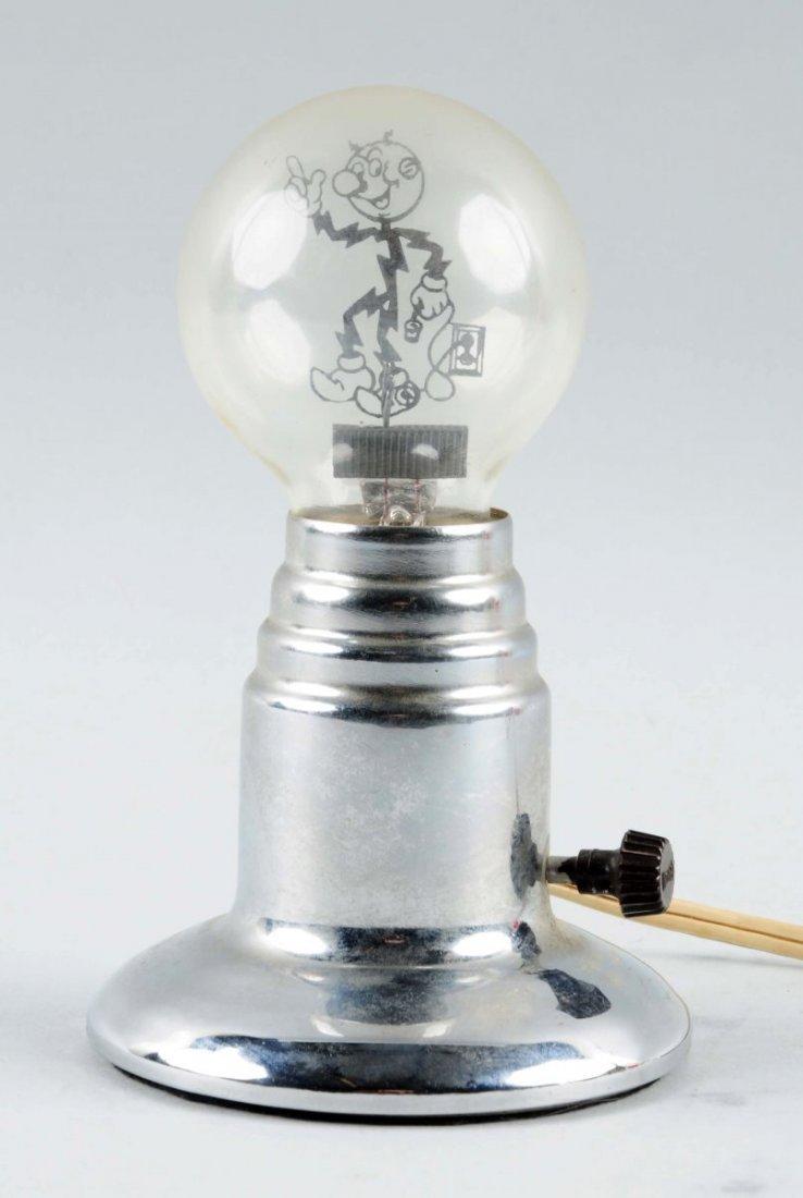 1940s Reddy Kilowatt Large Filament Light Bulb.