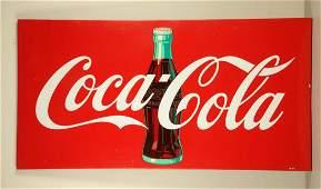 Large 1960s Coca-Cola Tin Sign.