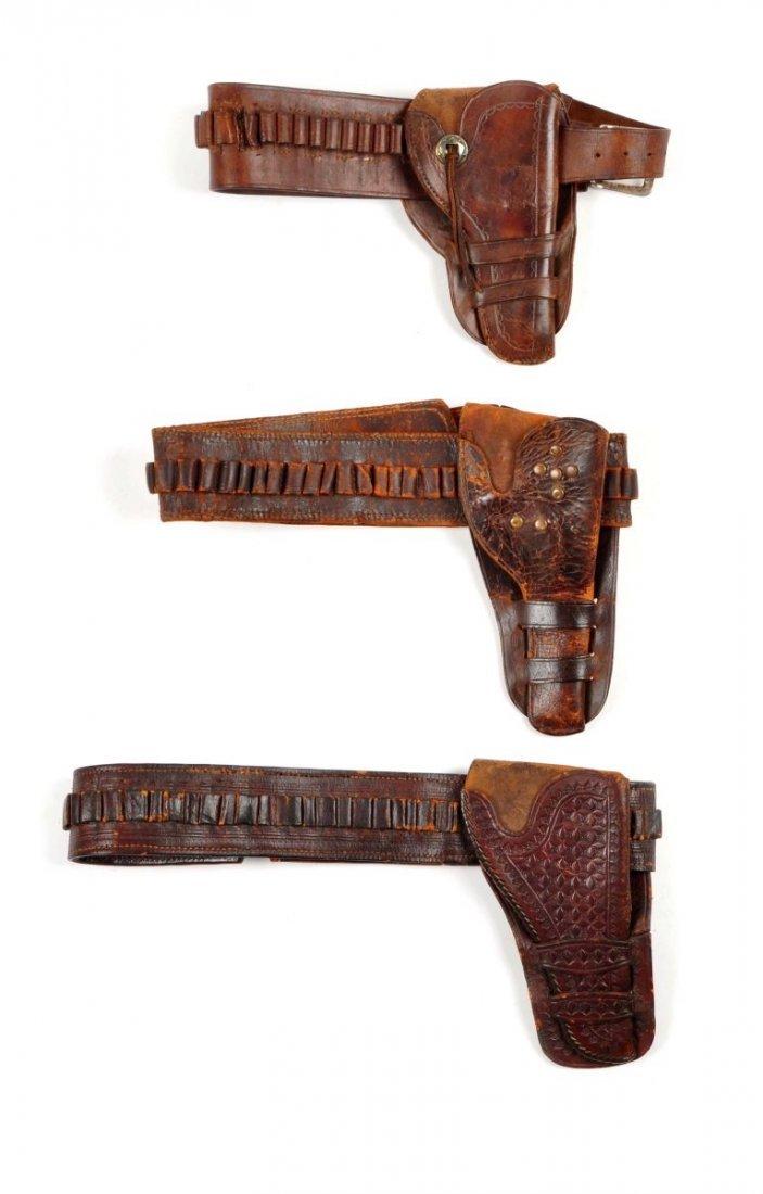 Lot Of 3: Vintage Western Gun Rigs/Holsters.