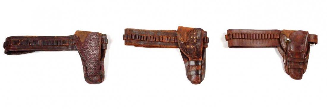 Lot Of 3: Vintage Western Gun Rigs/Holsters. - 3