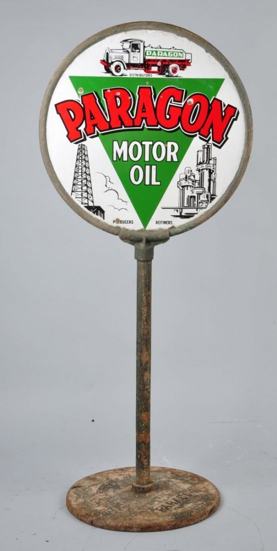 Paragon Motor Oil with Logo Sign. - 2