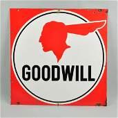 Pontiac Goodwill with Indian Logo Sign