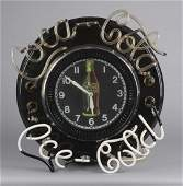 Large Coca Cola Spinner Neon Wall Clock