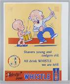 Thirsty Just Whistle Paper Advertising Sign