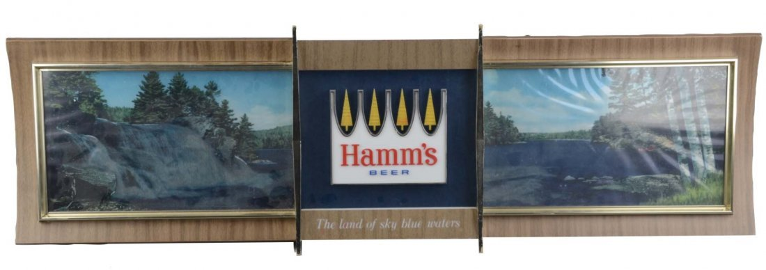 Hamm's Beer Panoramic Rippler Motion Sign