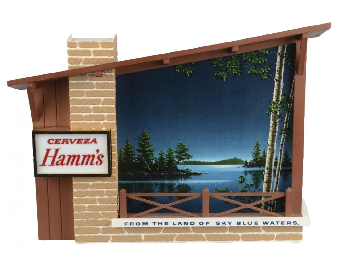 Hamm's Beer Starry Night Lighted Motion Sign