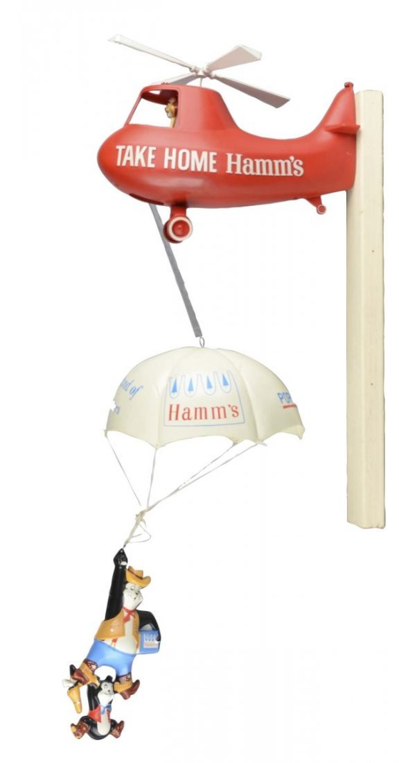 Take Home Hamm's Beer Helicopter Display