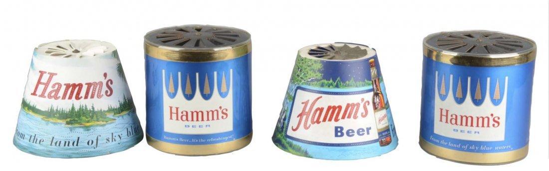 Lot Of 4: Motion Spinner Hamm's Beer Lamp Shades