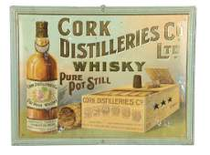 Cork Distilleries Co Tin Litho Advertising Sign