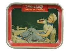 Coca Cola Sailor Girl Tin Serving Tray