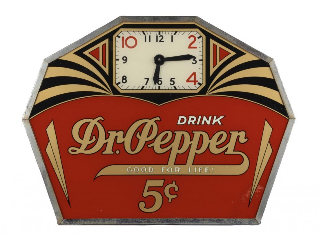 Dr. Pepper 5 Glass Electric Advertising Clock