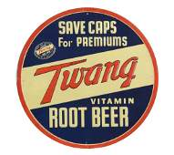 Twang Root Beer Embossed Tin Sign