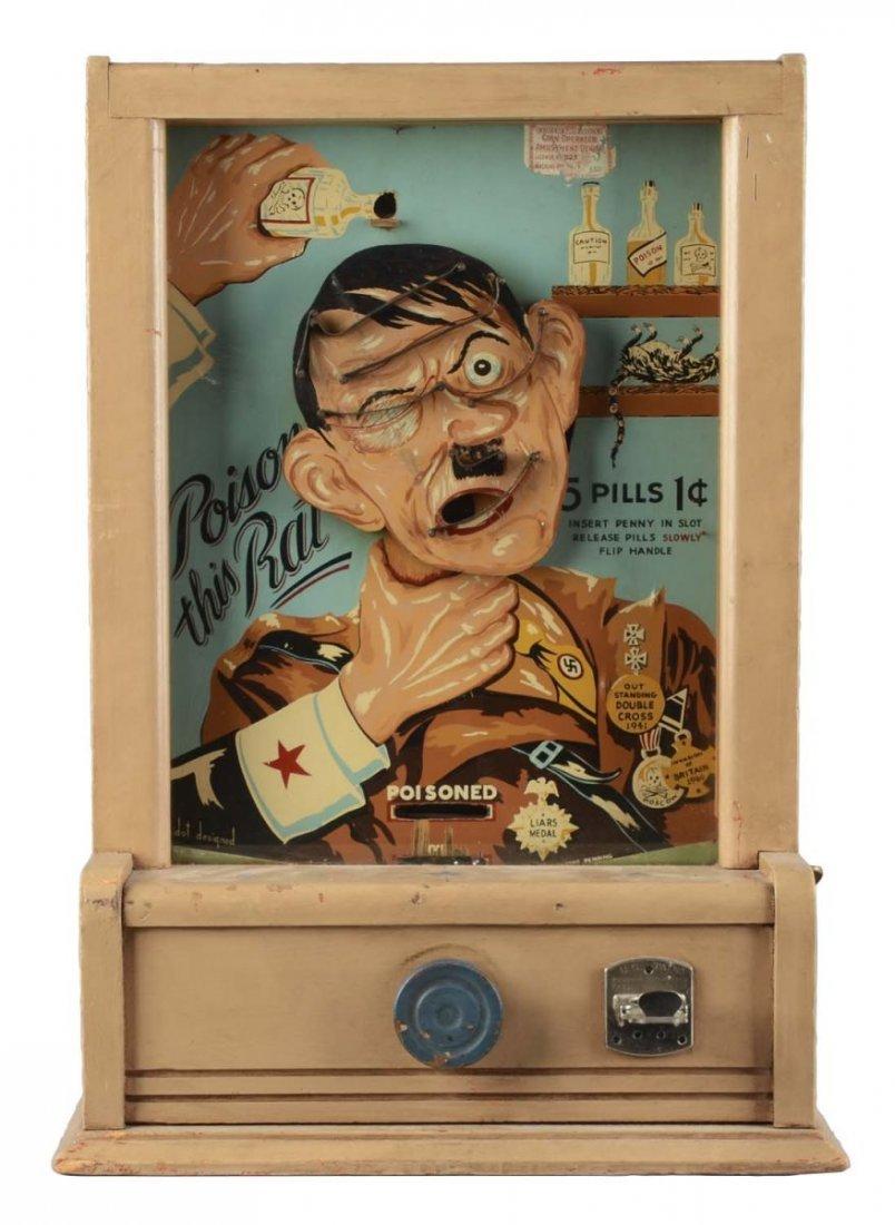 1 Poison This Rat Hitler Flipball Arcade Machine