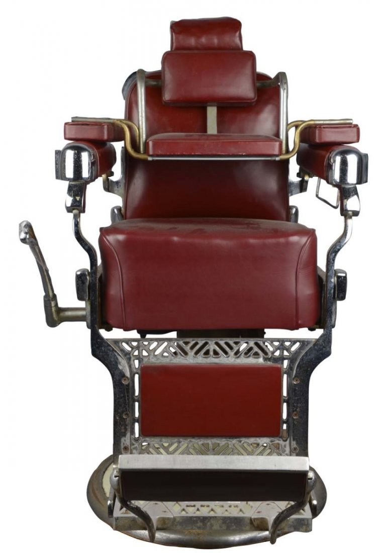 Belmont barber chair - Antique Belmont Barber Chair And Booster Seat